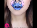 Watch it and this girl will make you laugh heavely by her unique lip art talent