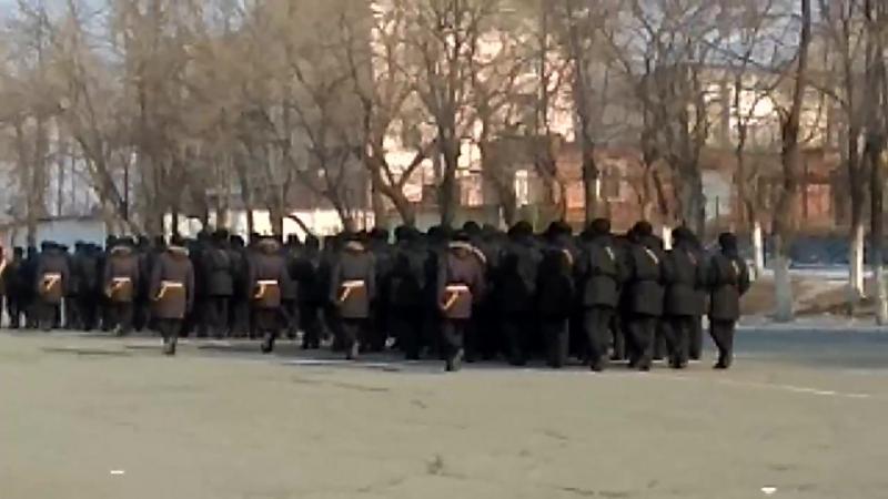 Присяга 4 февраля,3 и 4 роты,торжественный марш