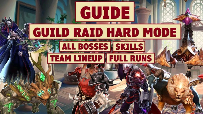 King's Raid - Guild Raid Hard Mode All Bosses Guide Team Recommendation Full Run