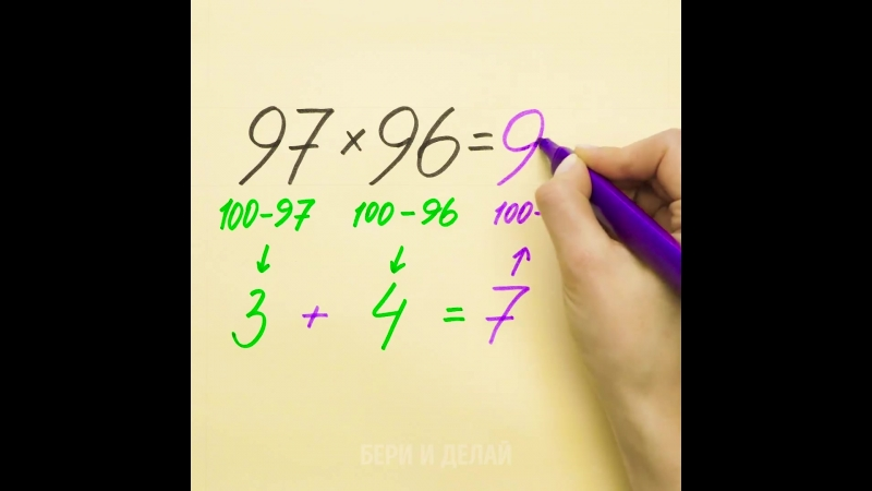 Быстрые математические хитрости