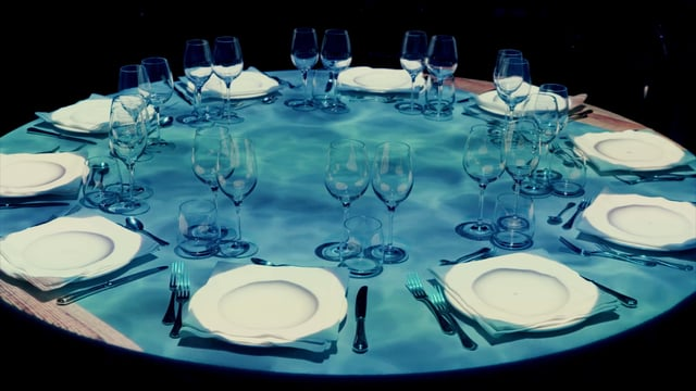 Dinner Show - Table Projection Mapping | Net Insurance