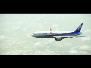 FS2004 -  All Nippon Airways 'ANA' Boeing 777-200 - Paris to Chicago O'hare Flig_HD.mp4