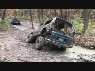 Jeep vs. mud hole  viralhog