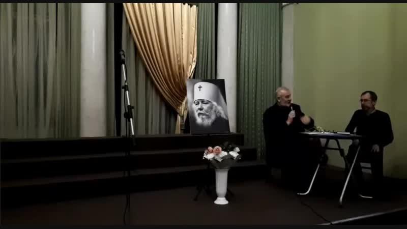 Питерский бард Антон ГалИцкий на вечере памяти Владыки Иоанна Снычёва в Александро-Невской Лавре 02.11.2018