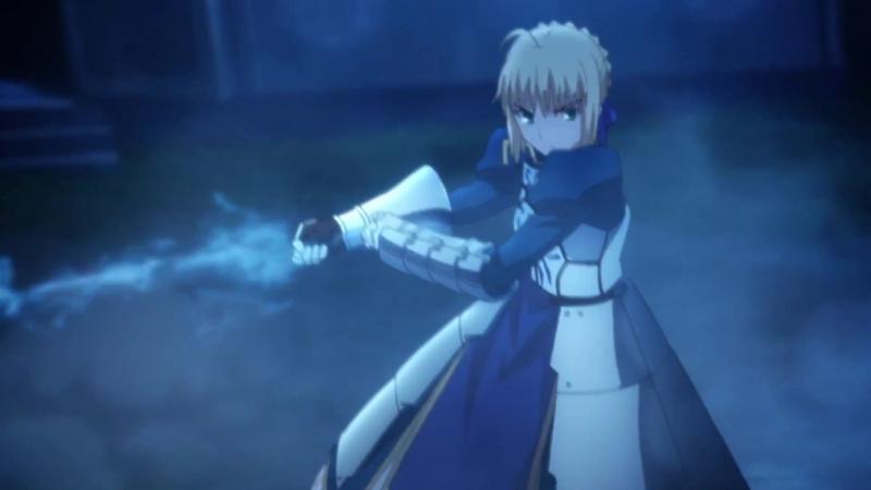 Момент из 1 серии аниме Судьба/Ночь схватки: Бесконечный мир клинков / Fate/Stay Night: Unlimited Blade Works (2014) / FSN 2014