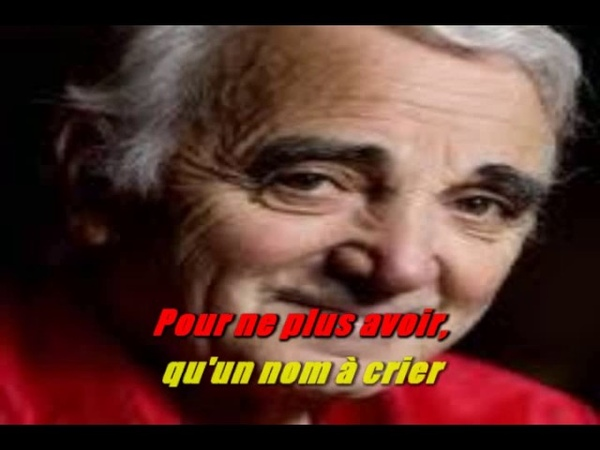 KARAOKE CHARLES AZNAVOUR De t'avoir aimée 1966 karafunise par DANY J karaoke51