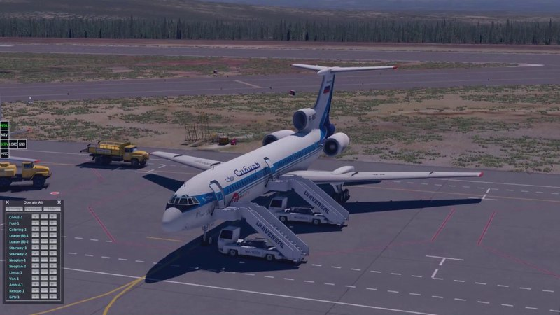 X-PLANE11/TU-154M Felis/ Мануал на примере полета UHMM - UHPP