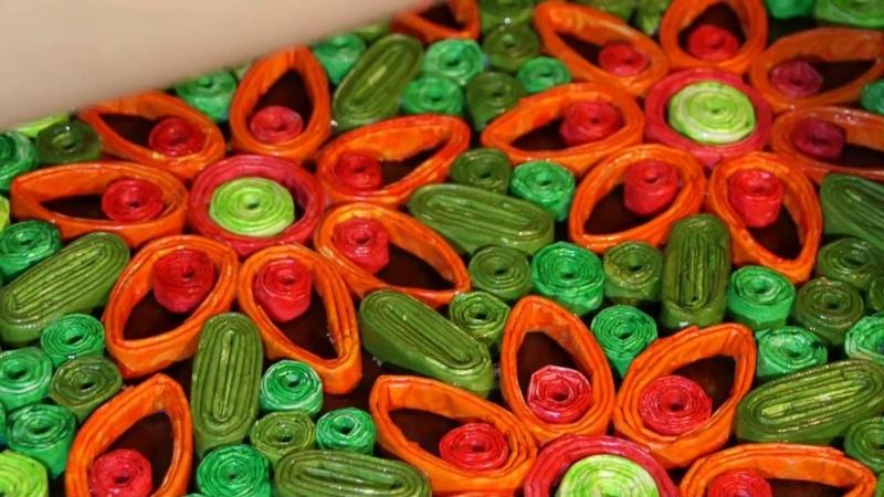 Цветочное панно васильковое поле.