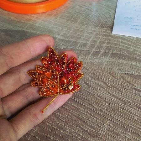Моя крошка брошка Осенний листик