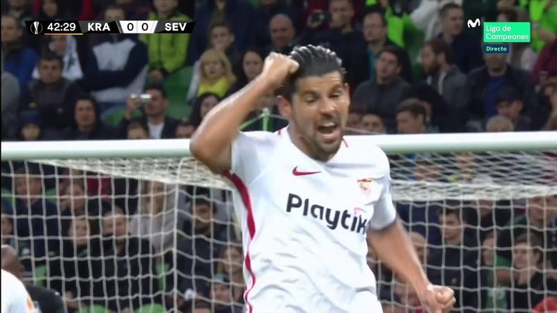 (2-1) El Krasnodar tumba la racha sevillista con una remontada