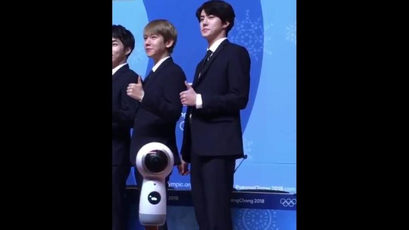 [fancam] 180221 Sehun @ Pyeongchang Olympics Closing Ceremony Press Conference