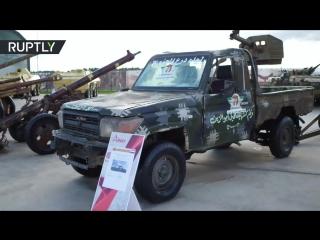 «Джихадмобили» и пикапы с пулемётами: на «Армии-2018» показали военную технику сирийских террористов