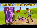HIDING *INSIDE* A VENDING MACHINE Fortnite Funny Fails and WTF Moments 339
