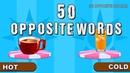 50 Opposite words | Opposites for children | elearnin