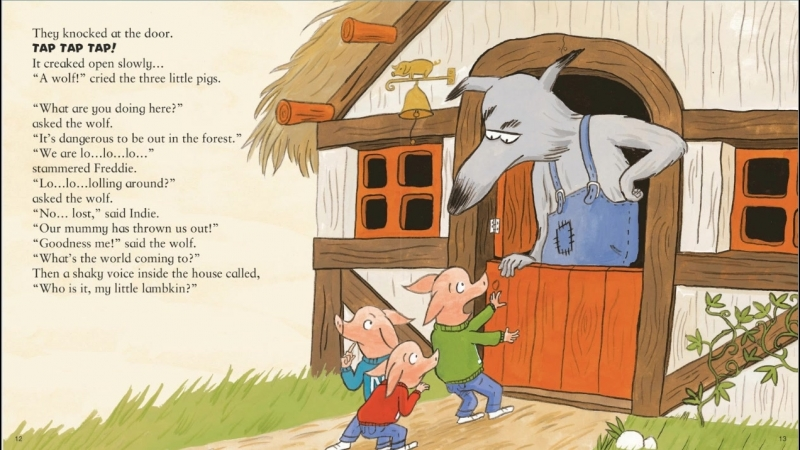 The three naughty little pigs and the big bad wolf