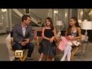 EXCLUSIVE Lea Michele Ariana Grande Show Off Scream Queens Killer Set