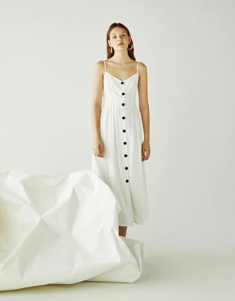 Длинное платье на бретелях