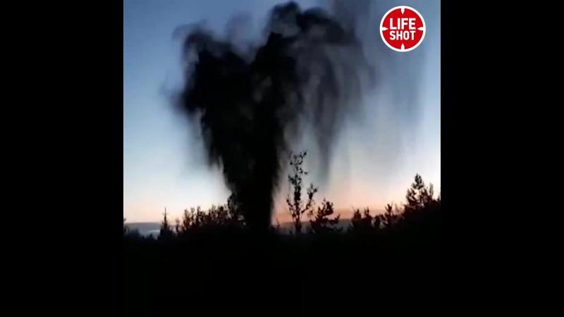 Eruption de pétrole près de la ville de Lyantor dans le district de Khanty Mansiysk