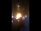 В Южно-Сахалинске сгорела ёлка (часть 2)