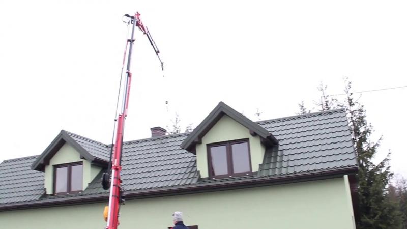 Мини-кран Kegiom 510 E4 паук до 2850 кг, установка окон - 400 кг, 500 кг и более.