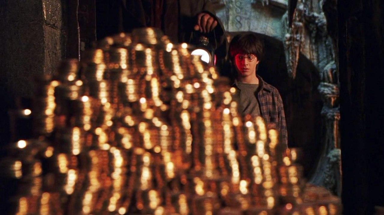 Сувенирные монеты банка Гринготтс -
