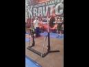Четвертый Чемпионат Европы АСМ ,, Витязь Пауэр-спорт 3-подход 100 кг строгий жим стоя