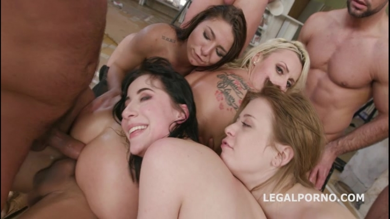 Outnumbered Both Ways 2 Charlotte Sartre, Brittany Bardot Balls Deep DAP Gapes Squirt To Mouth Anal Fist