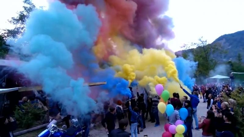УПЗ Цветной дым (дымовой факел) - (синий, красный, желтый, оранжевый, зелёный)