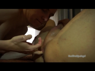Blowjob and Rimming RealDaddysAngel makes Guy Cum by Dildo Anal Fuck