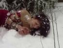 Shibari, winter, snow, Russia