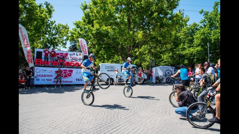 Трюки на велосипеде на Велопобеде в Севастополе