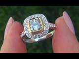 Certified Near Flawless VS2 Natural Fancy Yellow Diamond Engagement Ring - C416
