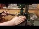 Сверлильный станок, обточка вала