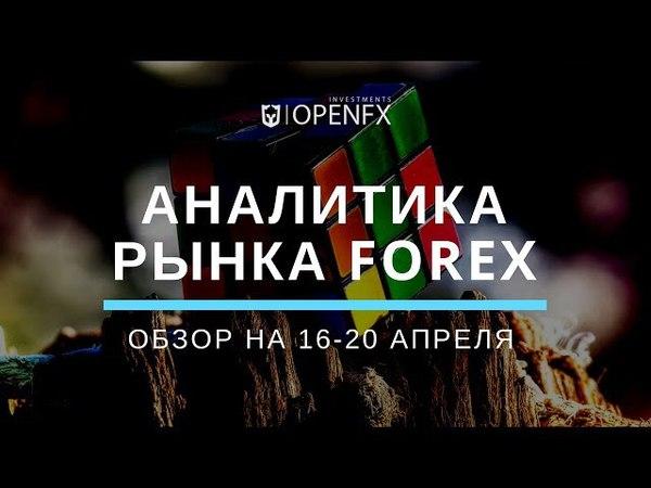 Аналитика форекс на неделю с 16 по 20 апреля от OpenFX