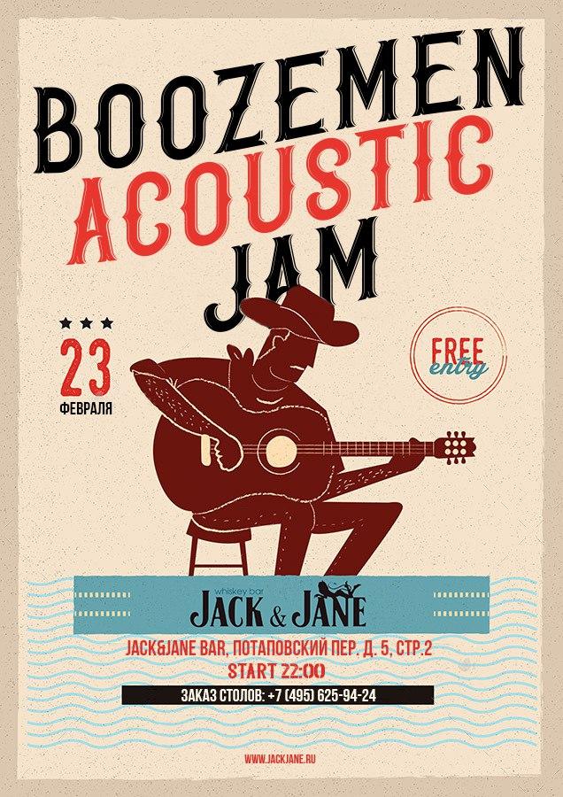 23.02 Boozemen Acoustic Jam в баре Jack&Jane!