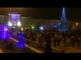 Новогодняя ночь 2018 на площади в Ельце