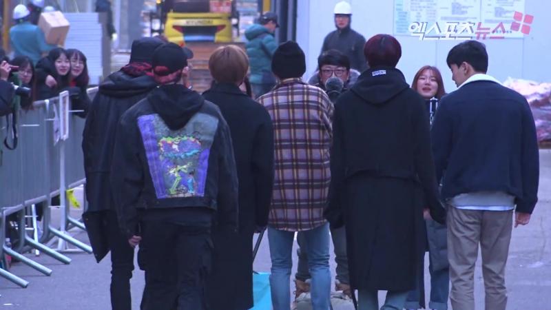 [VK][180105] MONSTA X arriving at Music Bank @ 엑스포츠뉴스(Xportsnews)