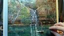 At the Swimming Hole Galvans Gorge How to Oil Painting Palette Knife Brush Dusan
