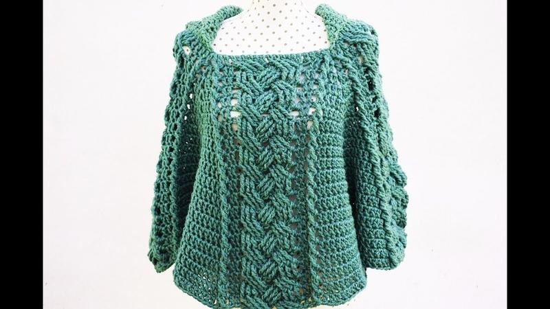 Poncho o capa de mujer a crochet MAJOVEL muy fácil y rápido crochet ganchillo fácil