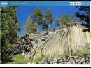 Пейзажи с многоугольными формами базальтовых колонн.
