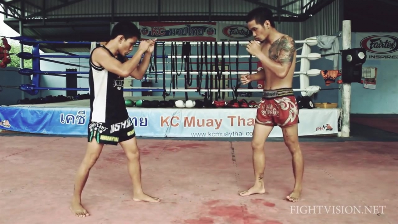 Teeps kinds in Muay Thai Muay Thai techniques Demonstration by KC Muay Thai Chiang Mai1