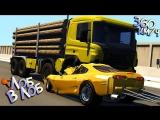 [Draken] BeamNG Drive | Бревновоз ПРОТИВ Спорткаров! Лобовые столкновения на скорости 360 км/ч!!!