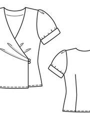 1891bb18d4e Блузка - выкройка № 119 из журнала 4 2013 Burda – выкройки блузок на  Burdastyle.ru - BurdaStyle.ru
