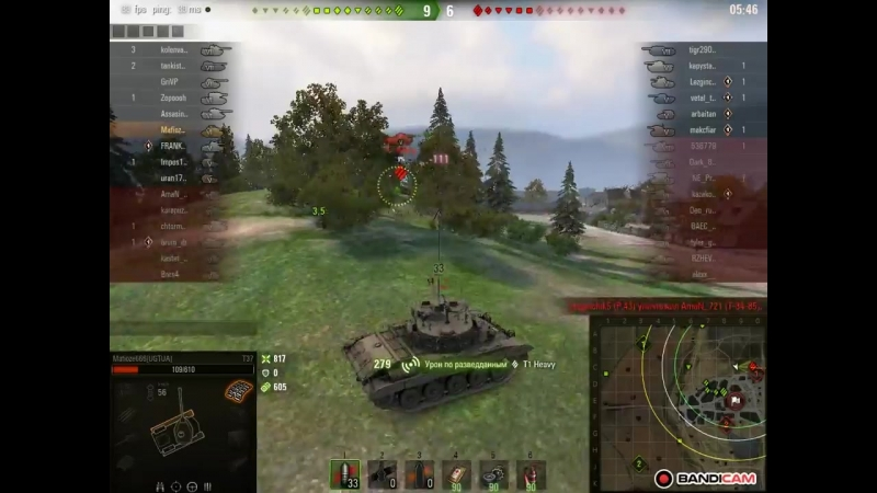 World of Tanks - таран на Т37