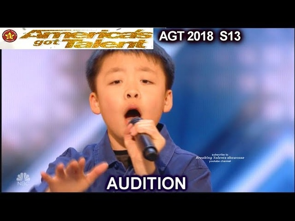"""Jeffrey Li 13 years old sings """"Raise Me Up"""" Simon Will Give Him a DOG America's Got Talent 2018 AGT"""