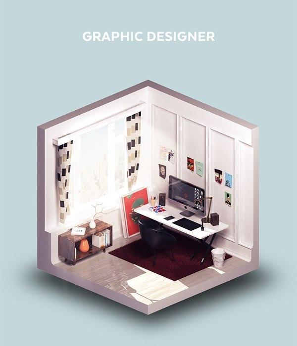 Рабочие комнаты творческих профессий