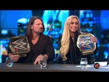 WWE AJ Styles and Carmella interview (The Project 25 June 2018)