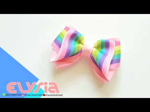 Laço Kayla 🎀 Kayla Ribbon Bow 🎀 DIY by Elysia Handmade