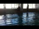 Первое соревнование по плаванию!) 25 метров на спине) 2 июня 2018