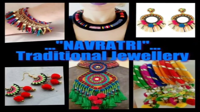 Latest elegant Ornaments 4 Navratri |traditional jewellery for lahenga choli | DIY pom pom jewellery